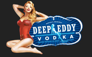 Deep Eddy Vodka logo with blond pinup girl